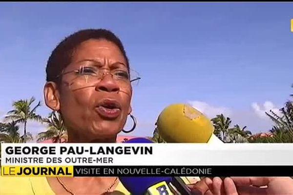 La ministre George Pau-Langevin en Nouvelle-Calédonie