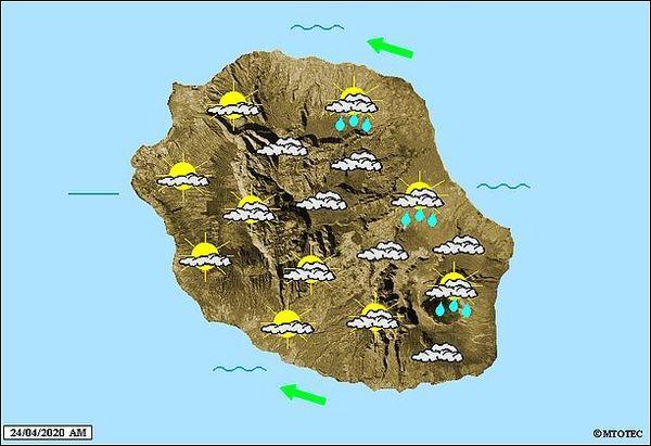 Carte météo 24 avril 2020