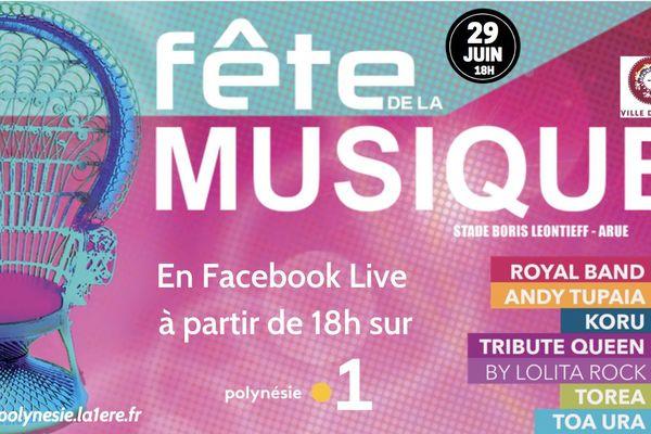 La fête de la musique à Arue en live sur Polynésie la 1ère !