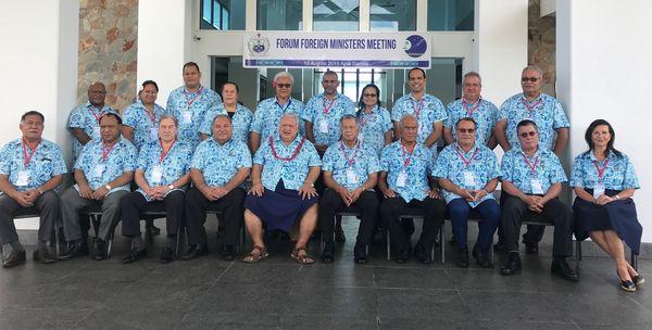 Réunion des ministres des Affaires étrangères du Forum des îles du Pacifique, 10 août 2018