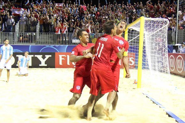 Beach soccer Tiki toa quart de finale