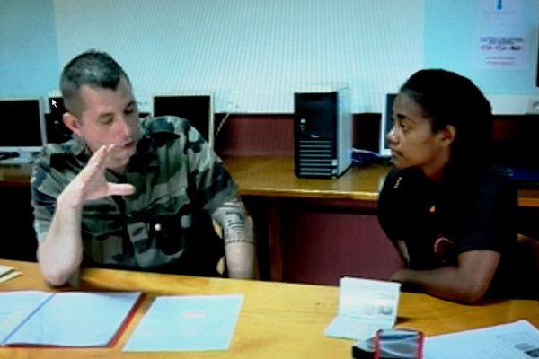 Recrutement du CIRFA (Centre d'Information et de Recrutement des Forces Armées) à Wallis