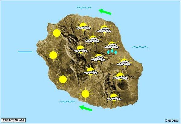 Carte météo 23 mars 2020