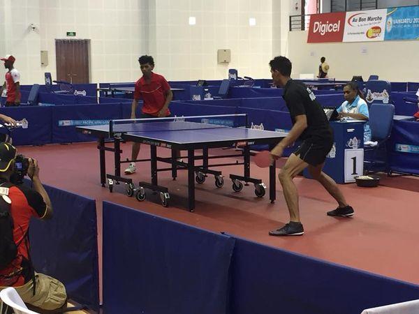 Mini jeux Pacifique Vanuatu 2017 match tennis de table hommes (4 décembre 2017)