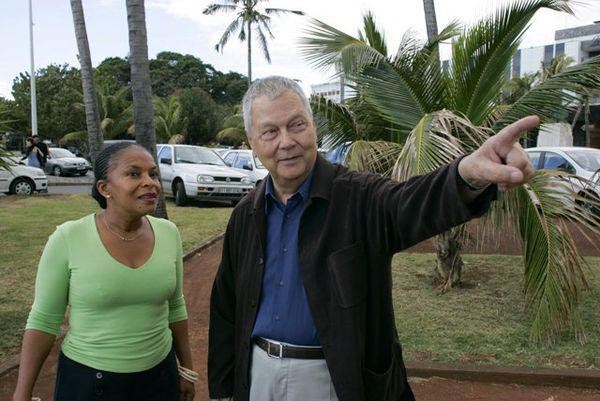 Paul Vergès et Christiane Taubira