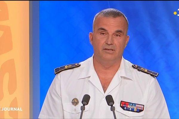 Le commandant supérieure des forces armées, le Contre Amiral Laurent Lebreton  était l'invite du journal télévisé de Polynésie la première.