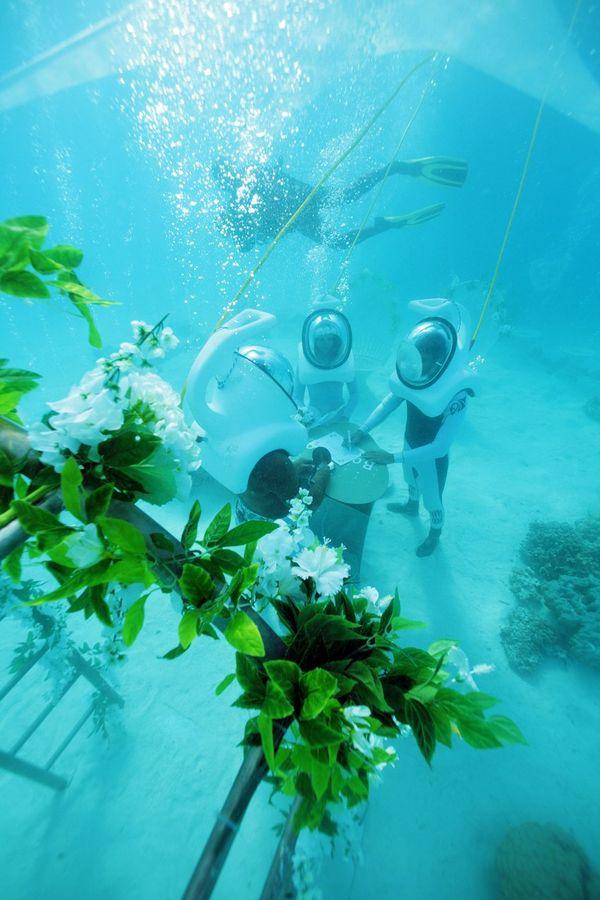 Mariage sous l'eau Bora Bora 2