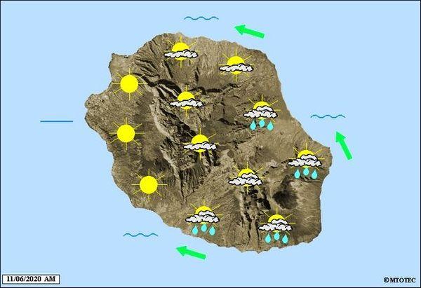 Carte météo 11 juin 2020