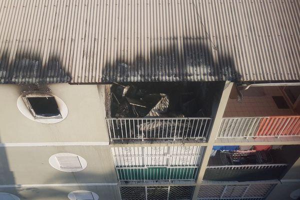 Incendie appartement Fond-Sarail Baie-Mahault