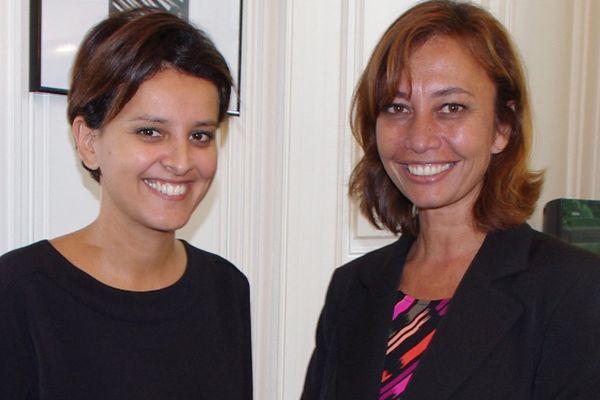 Nicole Sanquer rencontre Najat Vallaud-Belkacem