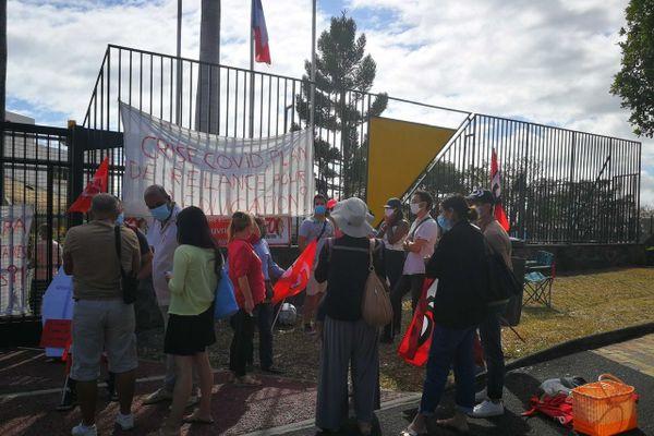 Manifestation devant le rectorat - 3