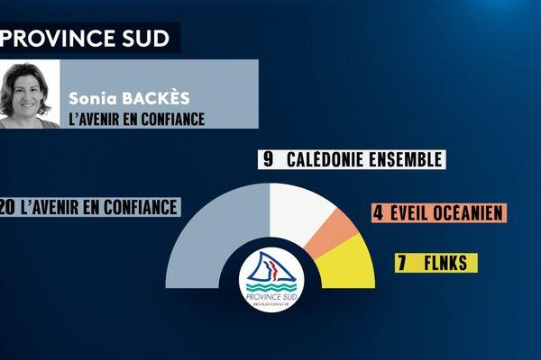 Province Sud infographie composition et présidente