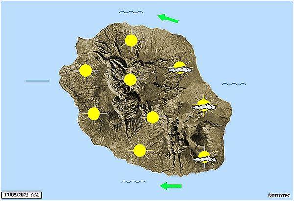 Carte météo 17 mai 2021