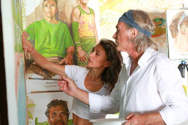 Zoé et Titouan Lamazou