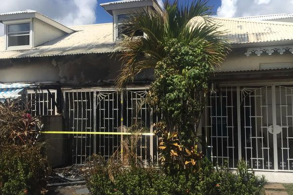 Maison incendiée Saint-François 31-10-2018