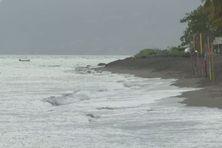 La plage du Carbet (Martinique, nord caraïbe).