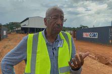 Georges Patient à la mine Dieu merci à la rencontre du personnel pour apporter son soutien