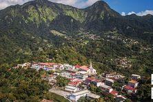 La commune du Morne-Vert (Nord caraïbe Martinique).
