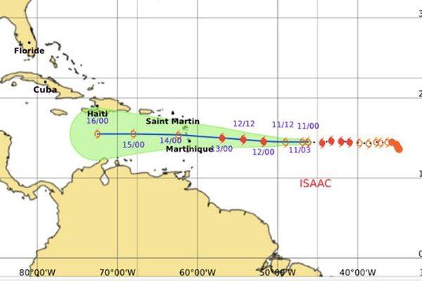 Carte météo TT Isaac