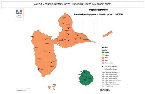 Sécheresse en Guadeloupe - mai 2021