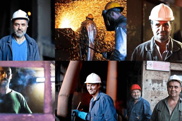Des métallurgistes de l'usine Larco / Grèce / Nickel