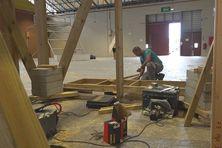 Le Salon de la Maison en plein chantier