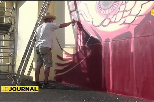 Le festival du graffiti Ono'u en escale à Raiatea