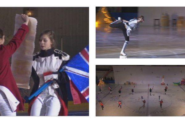 Les patineurs du club de patinage de l'archipel ont offert un superbe spectacle sur l'Histoire de Saint-Pierre et Miquelon