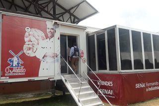L'unité de formation mobile du Senai pour la boulangerie