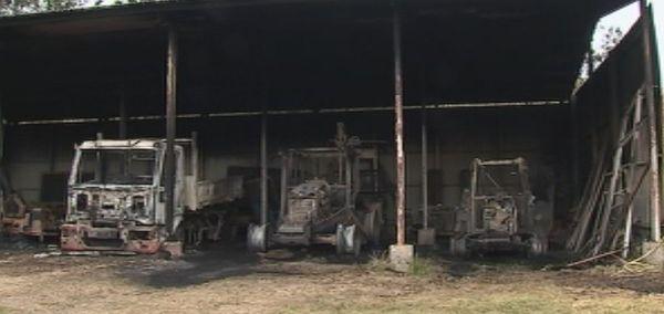 Incendie des ateliers municipaux à Boulouparis