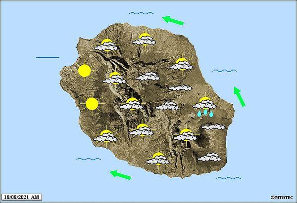 Carte météo 18 août 2021