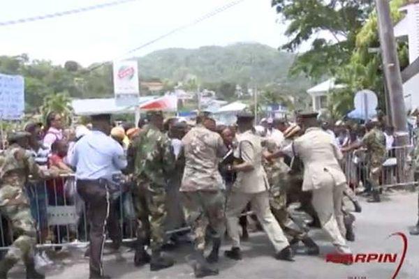 Manifestation à la Dominique