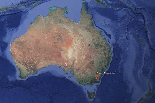 Snowy moutains, carte de localisation