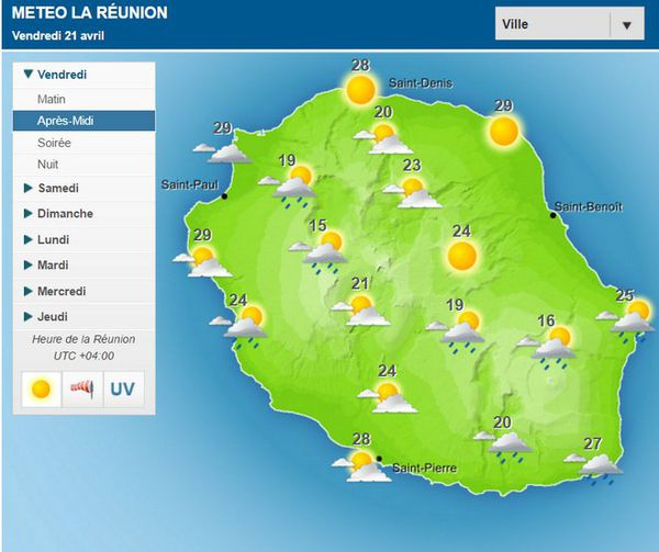 carte météo 21 avril 2017