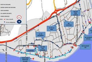 Réveillon nouvel an plan de circulation plages de l'Ouest mairie Saint-Paul 301218