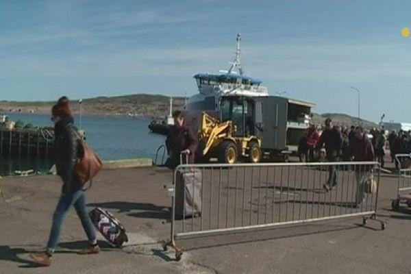 Nouvel aménagement sur le quai de Miquelon