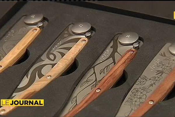 Des couteaux français à motifs maoris exportés en Nouvelle Zélande
