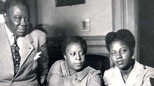 Félix Eboué, Eugénie sa femme et sa fille Ginette, future madame Senghor-Eboué