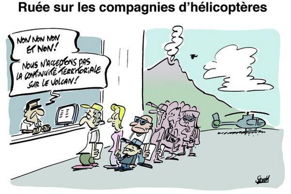 Dessin souch : ruée hélicoptères