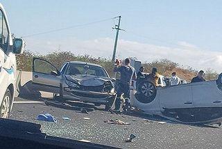 Accident route des Tamarins Une