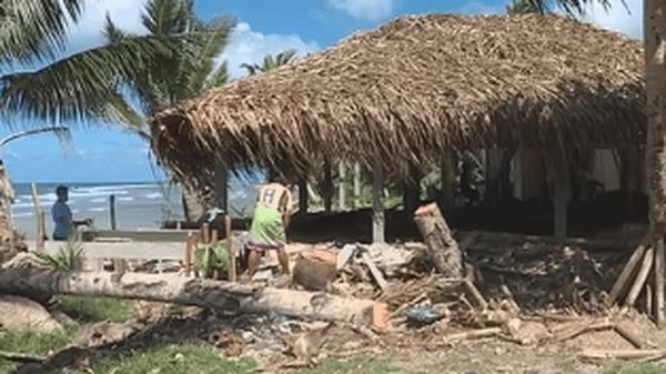 construction d'un restaurant à Futuna