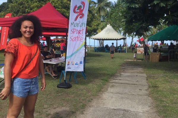 Anne Caroline Graffe a organisé la première Fête du sport à Tahiti