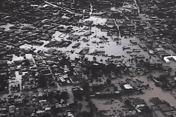 Port au Prince sous l'eau