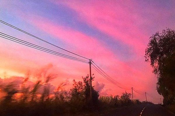 Ciel rose du mois d'octobre 2018