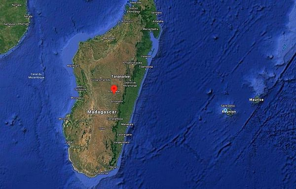 Carte de Madagascar et point sur Antsirabé