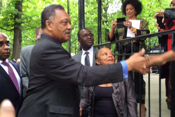 Jesse Jackson et Christiane Taubira