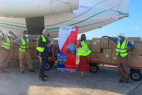 Livraison de matériel médical aux Comores contre la Covid-19 12 janvier 2021