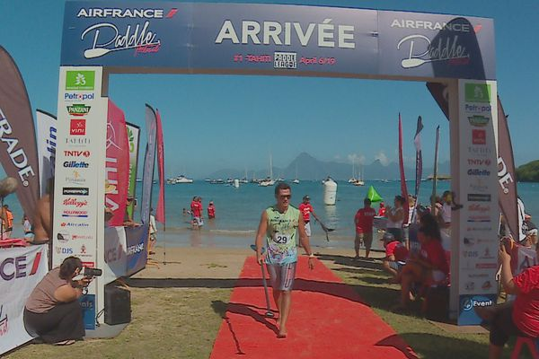 Henere Harris remporte le lagoon Race Air France Paddle