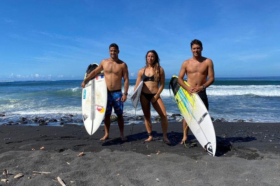 L'équipe de France de surf a commencé sa préparation à Papara - Polynésie la 1ère