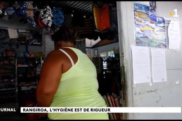 Les commerces de proximité de Rangiroa observent les règles de prévention